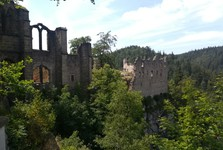 the vista over castle from the cemetery